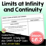 Limits at Infinity and Continuity with Lesson Video (Unit 10)