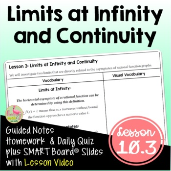 PreCalculus: Limits at Infinity and Continuity