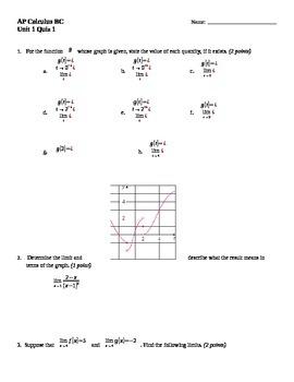 Limits Quiz