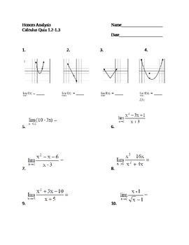 Limits Quiz (Calculus)