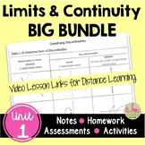 Calculus Limits and Continuity BIG Bundle with Video Lesso
