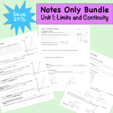 Limits and Continuity Notes Only Bundle