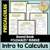 PreCalculus: Intro to Calculus Unit FOLDABLES©