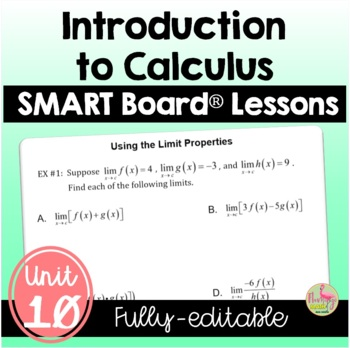 PreCalculus: Intro to Calculus SMART Board® Lessons Bundle