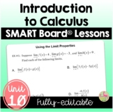 Intro to Calculus SMART Board® Lessons (Unit 10)