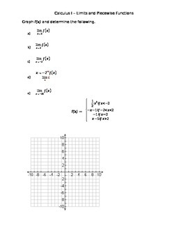 Limits and Piecewise Functions