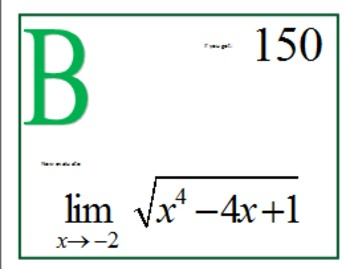 Limits of Algebraic Expressions Scavenger Hunt