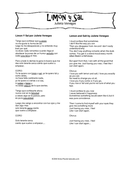 Limón y Sal Song Packet
