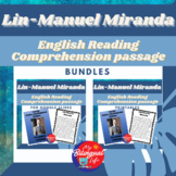 Lin-Manuel Miranda English Reading Comprehension Activity Bundle