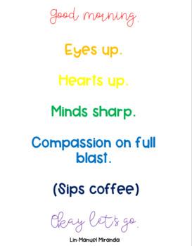 Lin-Manuel Miranda's Good Morning Tweet Wall Posters