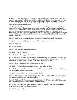 Lincoln (2012) Film/Movie Questions (Advanced)