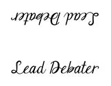 Lincoln-Douglas Debate Placards