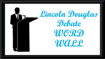 Lincoln Douglas Debate Word Wall- Podium Template