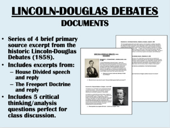 Lincoln-Douglas Debates - Documents - US History/APUSH