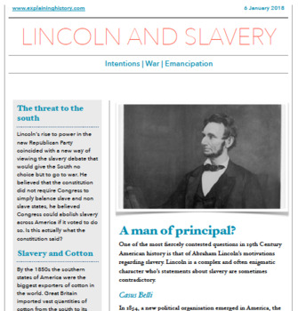 Lincoln, Emancipation and Reconstruction Resources