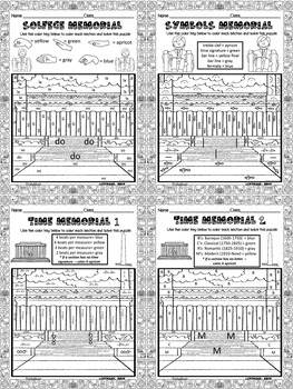 Lincoln Memorial Color By Symbol (Music)