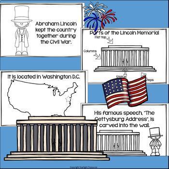 Lincoln Memorial Mini Book for Early Readers: American Symbols