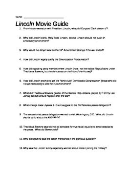 Lincoln Movie Guide