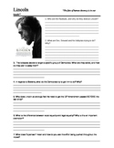 Lincoln Movie Review Questions and Writing Assignment