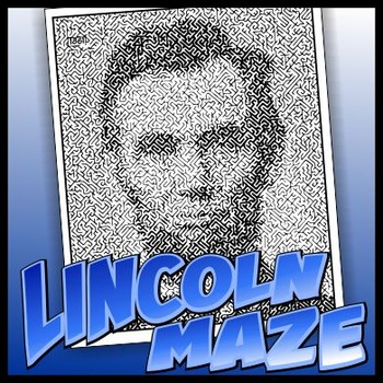 Lincoln Pictorial Maze - Intricate, full-page maze activity