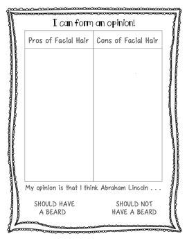 Abraham Lincoln Opinion Writing: Beard or No Beard?