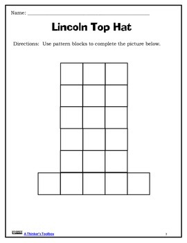 Lincoln Top Hat Pattern Block Puzzle