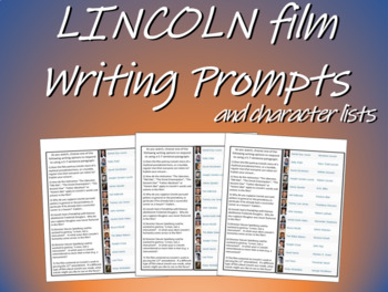 Lincoln film Writing Prompts