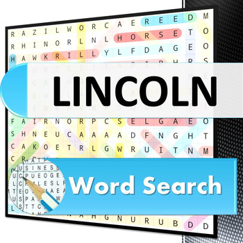 Lincoln film word search puzzle - People and Places