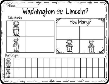 Lincoln or Washington (A Pocket Chart Graphing Activity)