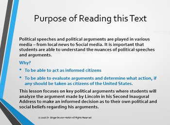 Lincoln's 2nd Inaugural Address All In One Bundle w/ Questions, Assessments. PPT