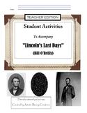 Lincoln's Last Days TEACHER Edition Non-Fiction Book Study