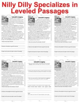 Abraham Lincoln & Emancipation Proclamation Close Reading 5 LEVELED PASSAGES!!!