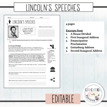 Lincoln's Speeches Analysis