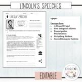 Lincoln's Speeches Analysis