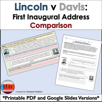 Abraham Lincoln and Jefferson Davis: First Inaugural Address