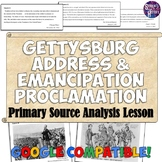 Lincoln's Gettysburg Address & Emancipation Proclamation Primary Source Analysis