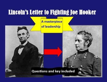 Civil War: Lincoln's Letter to Fighting Joe Hooker ( & que