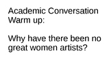 Linda Nochlin:  Why have there been no great women artists?
