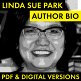 Linda Sue Park Author Study Worksheet, Easy Biography Activity, CCSS