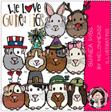 Guinea pigs clip art - COMBO PACK- by Melonheadz