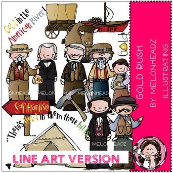 Linda's Gold Rush by Melonheadz LINE ART