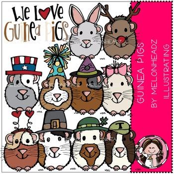 Linda's guinea pigs by Melonheadz