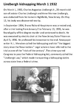 Lindbergh kidnapping Handout