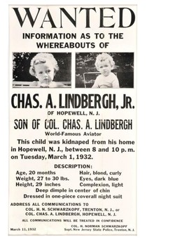 Lindbergh kidnapping March 1 1932 Word Search