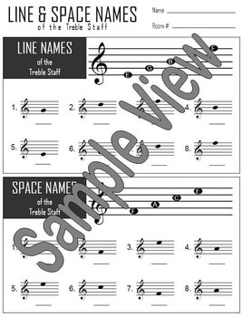 Line And Space Name Activity Page