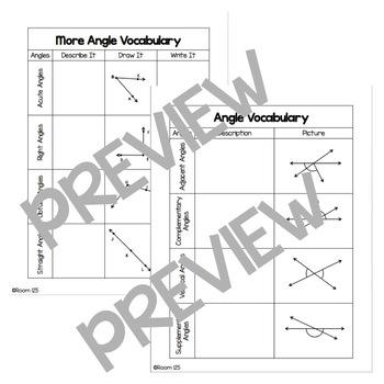 Line & Angle Vocabulary