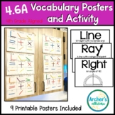 TEKS 4.6A Line Angles Vocabulary Posters and Hands-On Activity