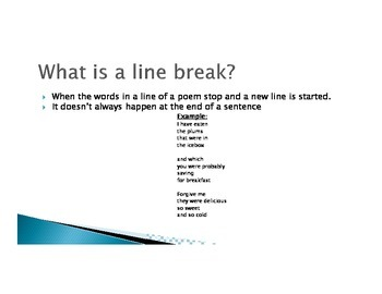 Line Breaks in Poetry