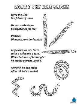 Line Coloring Poem