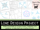 Line Design Project - Middle School Math End of Year Project